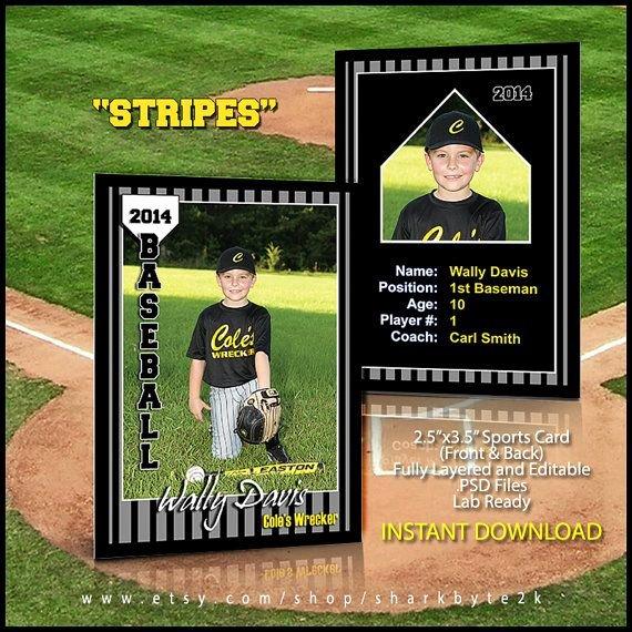Baseball Card Template Photoshop Beautiful 17 Best Images About Baseball Card Templates On Pinterest