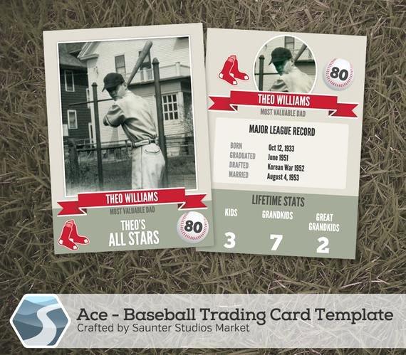 "Baseball Card Template Photoshop Best Of Ace Baseball Trading Card 2 5"" X 3 5"" Shop"