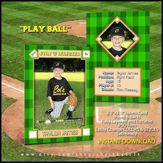 Baseball Card Template Photoshop Fresh 124 Best Shop Templates & Designs Images On Pinterest