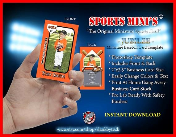 Baseball Card Template Photoshop Inspirational Miniature Baseball Card Shop Template for Printing On
