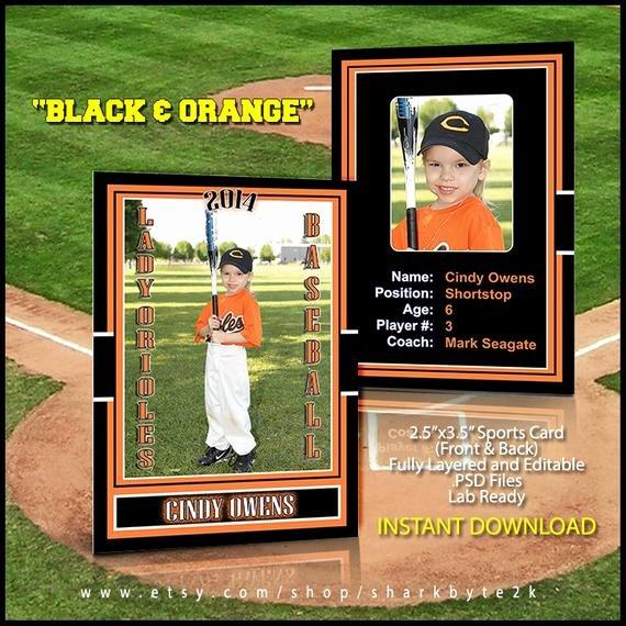 Baseball Card Template Photoshop Lovely 2017 Baseball Sports Trader Card Template for Shop Black