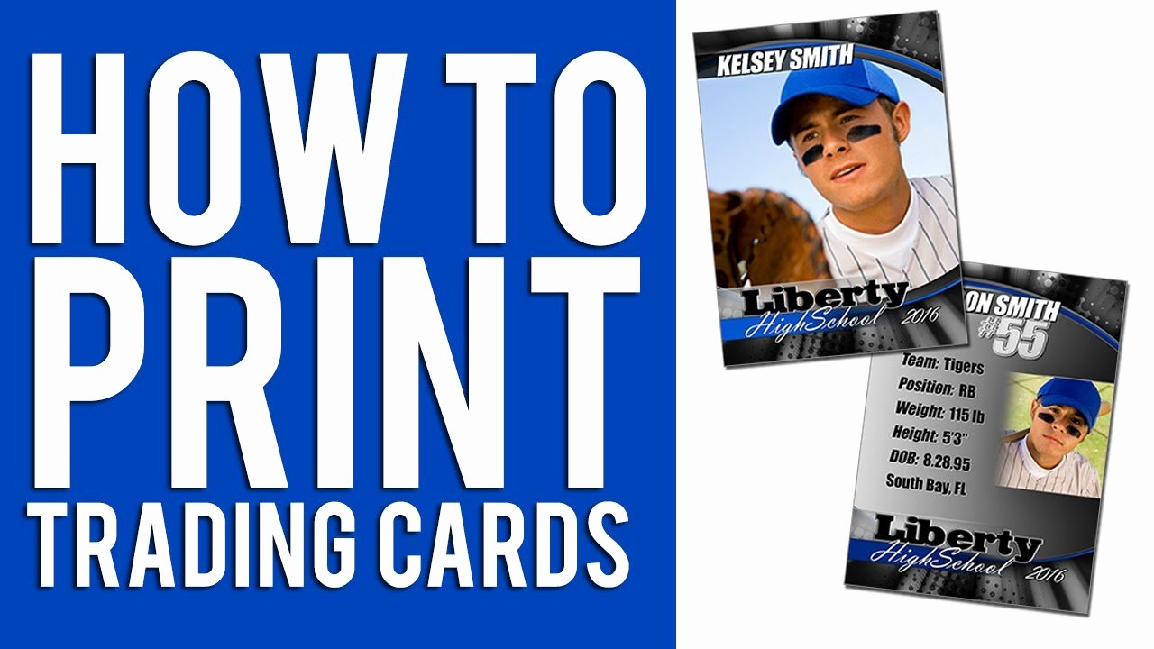 Baseball Card Template Word Fresh How to Print Custom Trading Cards Tutorial