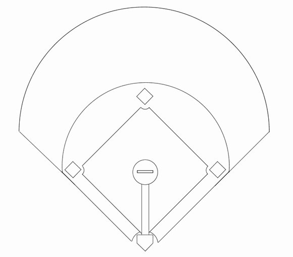 Baseball Field Layout Template Lovely Printable Baseball Diamond Diagram
