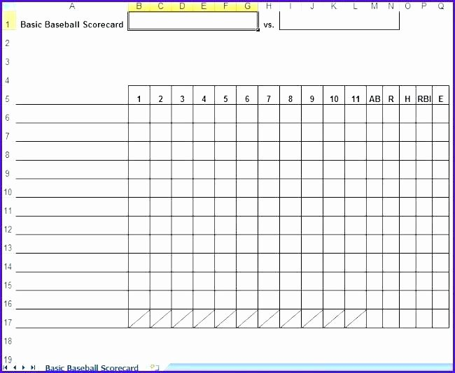 Baseball Lineup Card Template Beautiful Elegant Baseball Scorecard Line Score Sheet Template Pdf
