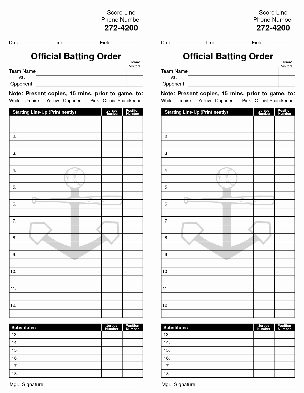 Baseball Lineup Card Template Inspirational 8 Best Of Baseball Card Free Printable Template