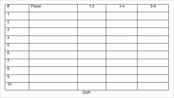 Baseball Lineup Card Template New 9 Baseball Line Up Card Templates Doc Pdf Psd Eps