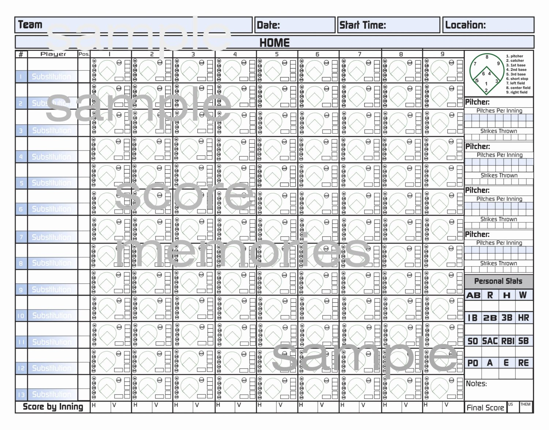 Baseball Score Sheet Template Best Of 4 Baseball Score Sheet Templates Excel Xlts