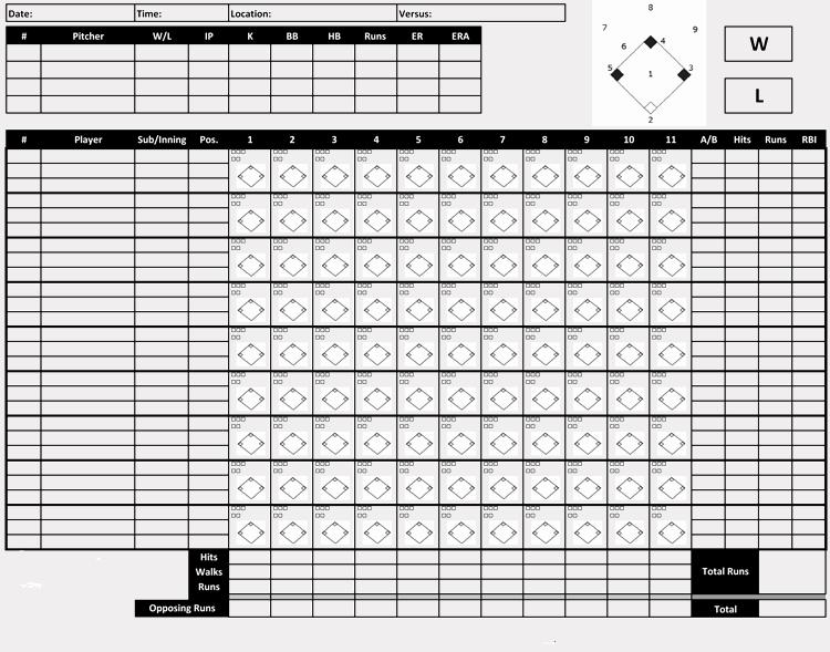 Baseball Score Sheet Template Best Of Printable Baseball Scorecards Scoresheets Pdf