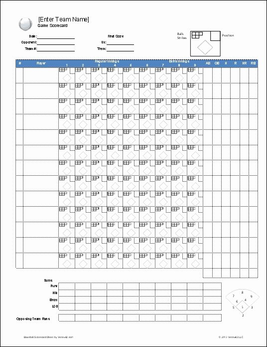 Baseball Score Sheet Template Elegant Download A Free Baseball Roster Template for Excel