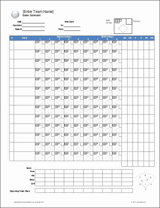 Baseball Score Sheet Template Inspirational Free Baseball Roster and Lineup Template