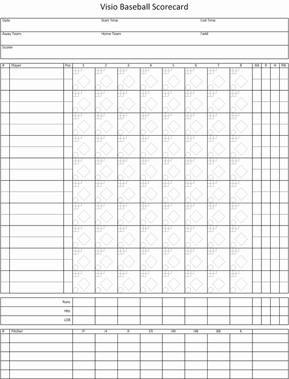 Baseball Score Sheet Template Unique Visio Baseball Scorecard – Visio Insights
