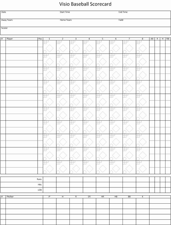 Baseball Score Sheet Template Unique Visio Baseball Scorecard – Visio Insights