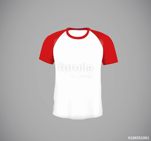 """Baseball Shirt Designs Template Best Of """"men S Slim Fitting Short Sleeve Baseball Shirt Red Mock"""