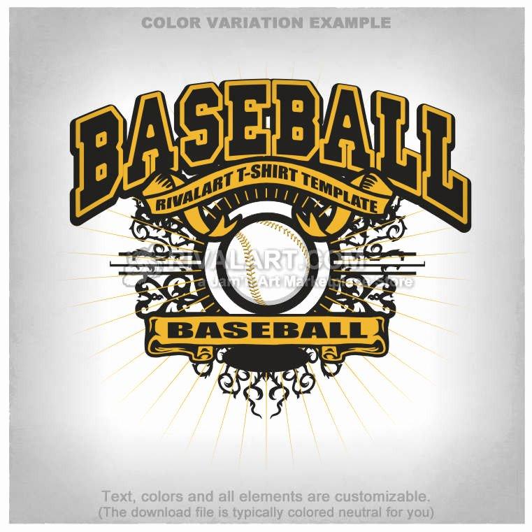 Baseball Shirt Designs Template Elegant Baseball T Shirt Design Template Base 03 Rq