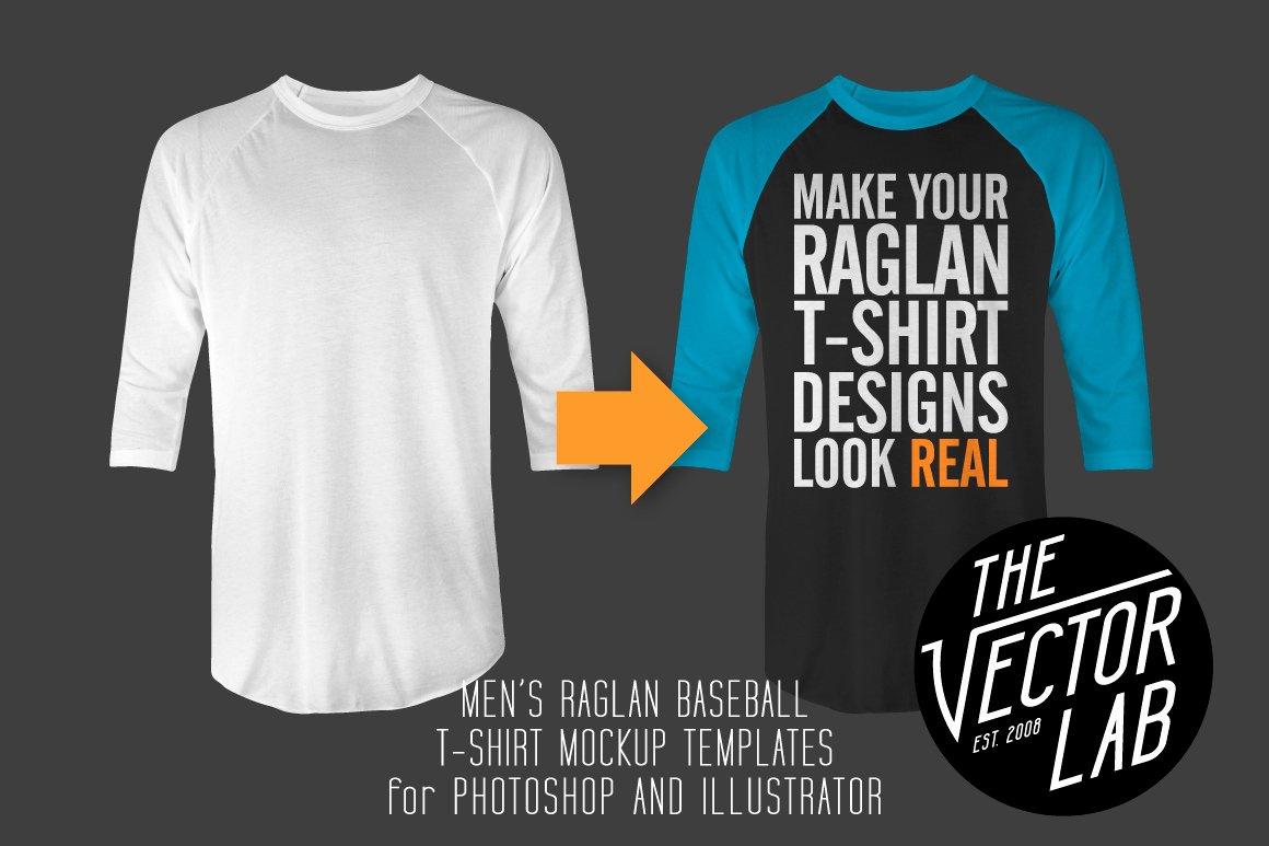 Baseball Shirt Designs Template Inspirational Men S Raglan Mockup Templates Psd Ai Product Mockups On
