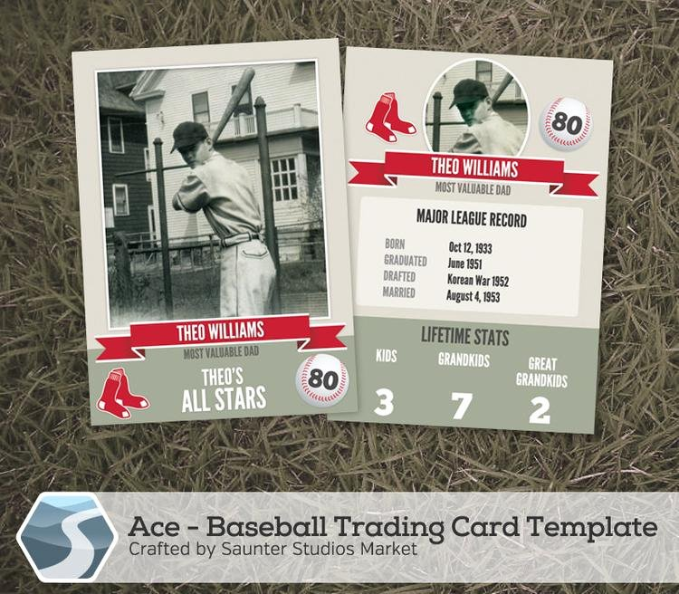 Baseball Trading Card Template Awesome Ace Baseball Trading Card 2 5 X 3 5 Shop by