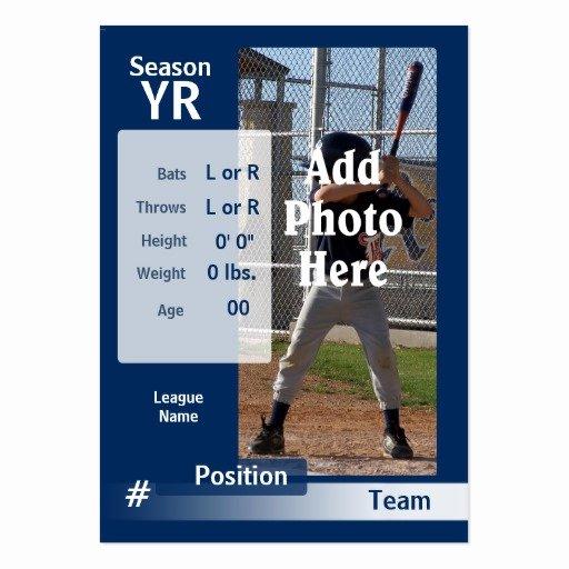 Baseball Trading Card Template Awesome Custom Baseball Trading Card In Blue Business Cards