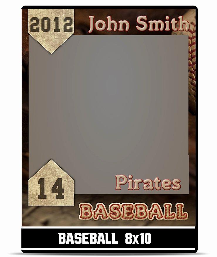 Baseball Trading Card Template Beautiful Baseball – 8×10 Template