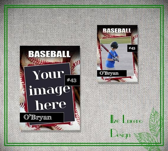 Baseball Trading Card Template Beautiful Psd Baseball Trading Card Template by Ilzesdesigns On Etsy