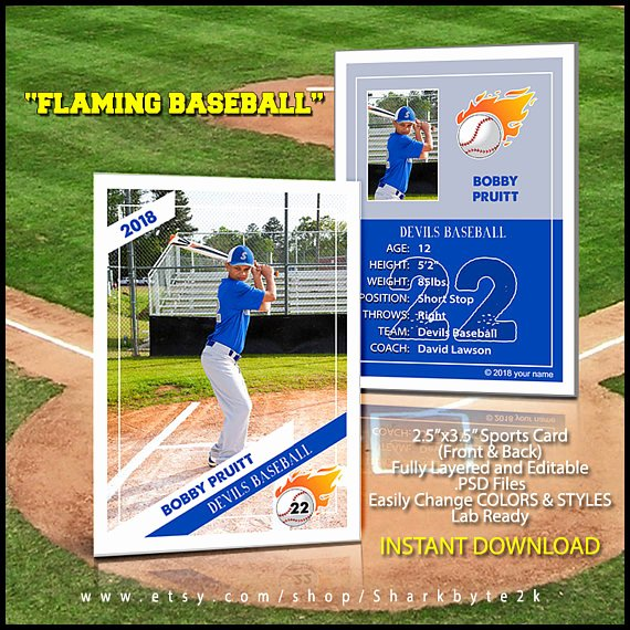 Baseball Trading Card Template Lovely 2017 Baseball Card Template Perfect for Trading Cards for