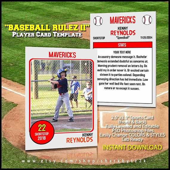Baseball Trading Cards Template Awesome Baseball Card Template Perfect for Trading Cards for Your
