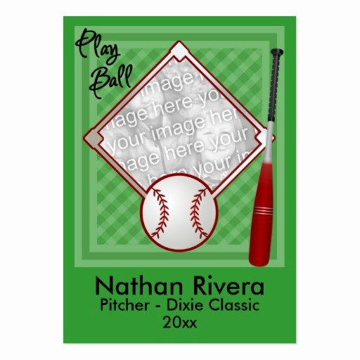 Baseball Trading Cards Template Elegant Your Baseball Trading Card Business Cards Pack