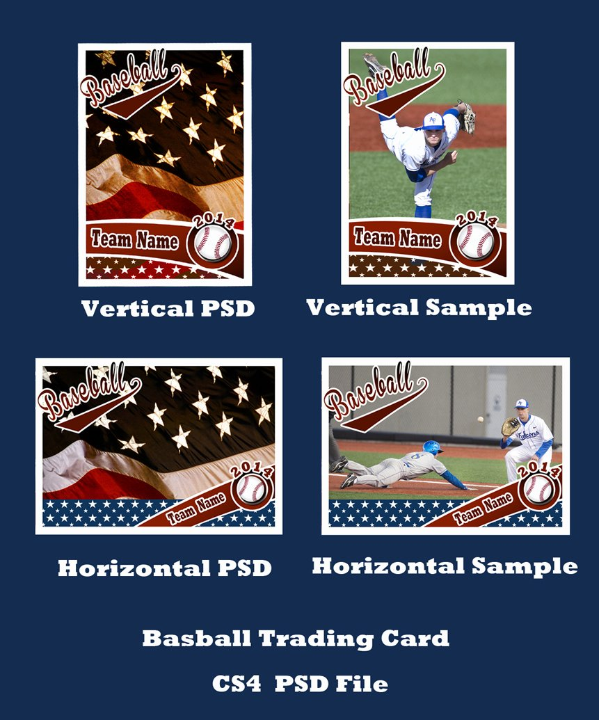 Baseball Trading Cards Template Unique Baseball Card Template Psd Cs4 Shop by Bevie55 On
