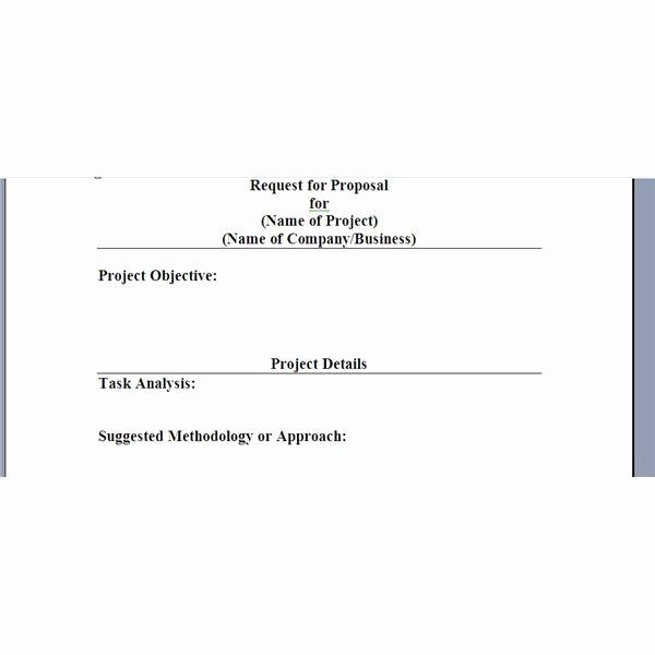 Basic Bid Proposal Template Best Of Request for Proposal Template