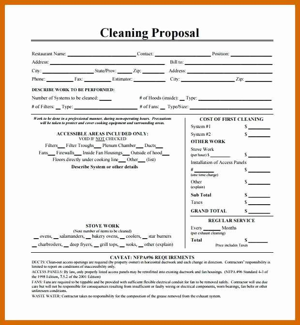 Basic Bid Proposal Template Inspirational 6 7 Cleaning Proposal Template
