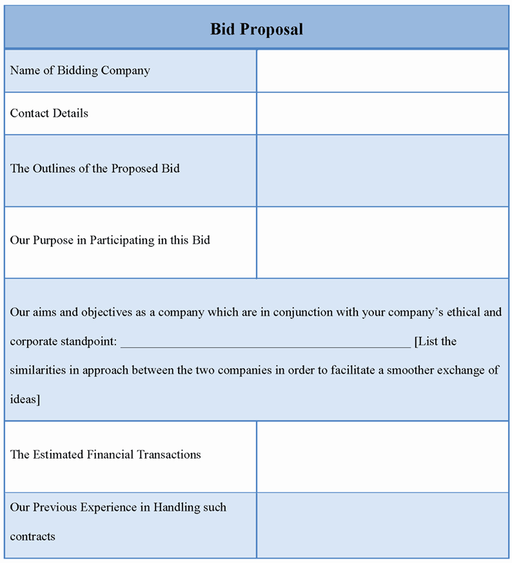 Basic Bid Proposal Template Lovely Proposal Template for Bid Example Of Bid Proposal