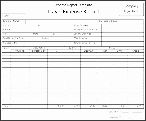 Basic Expense Report Template Lovely 5 Simple Expense Report Template Sampletemplatess