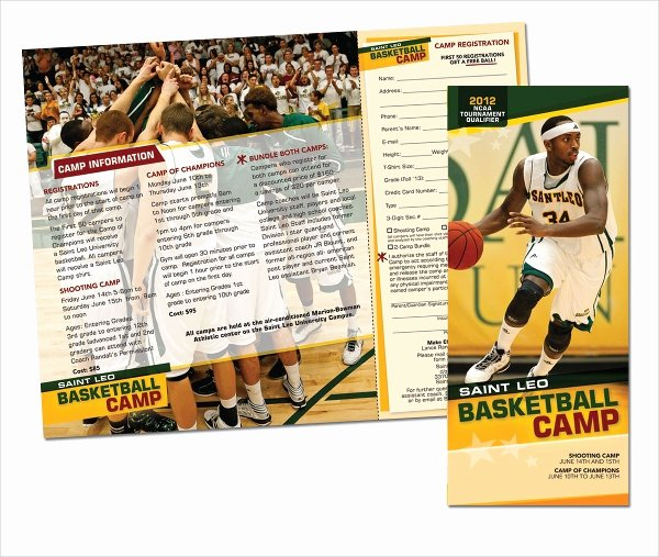 Basketball Camp Flyer Template Beautiful 16 Basketball Camp Brochures Free Psd Eps Ai format
