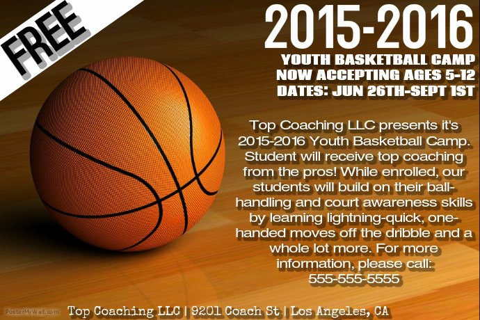 Basketball Camp Flyer Template Best Of Basketball Camp Template