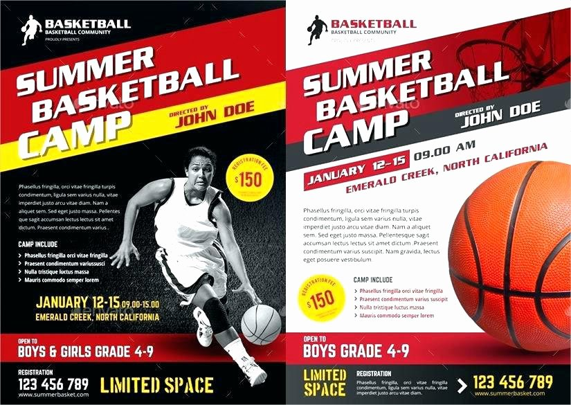Basketball Camp Flyer Template Fresh Basketball Camp Brochure Template Awesome Flyer Charming