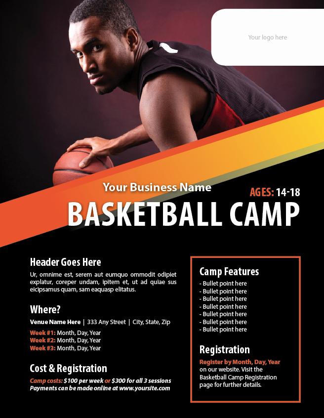 Basketball Camp Flyer Template Fresh Basketball Camp Flyer Template Poster Templates