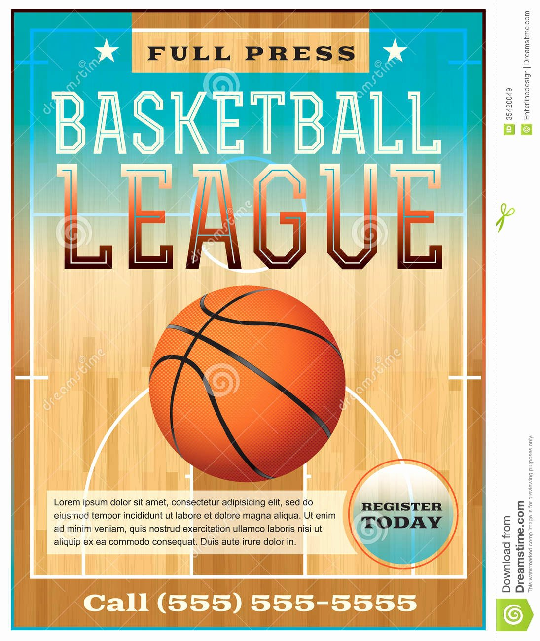 Basketball Camp Flyer Template Fresh Basketball League Flyer Stock Vector Image Of Flyer
