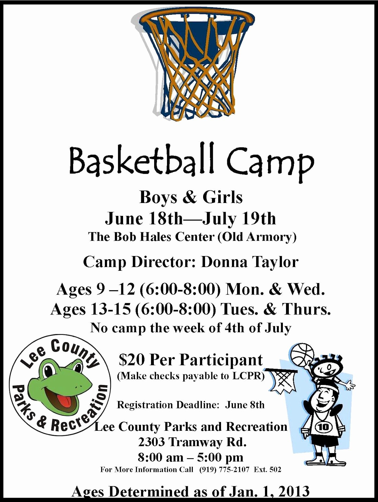 Basketball Camp Flyer Template Fresh Lee County Government Basketball Camp