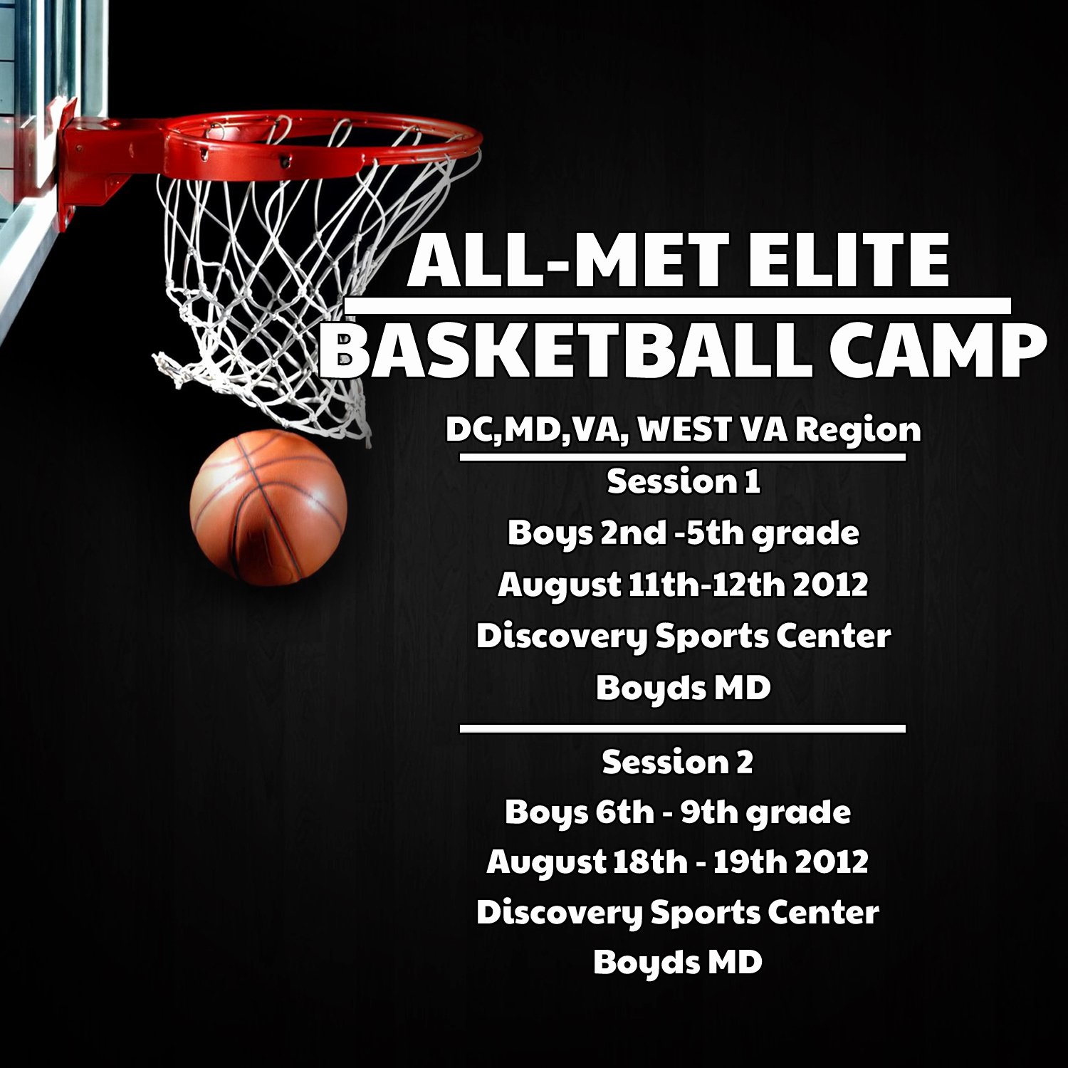 Basketball Camp Flyer Template Inspirational All Met Elite 06 01 2012 07 01 2012