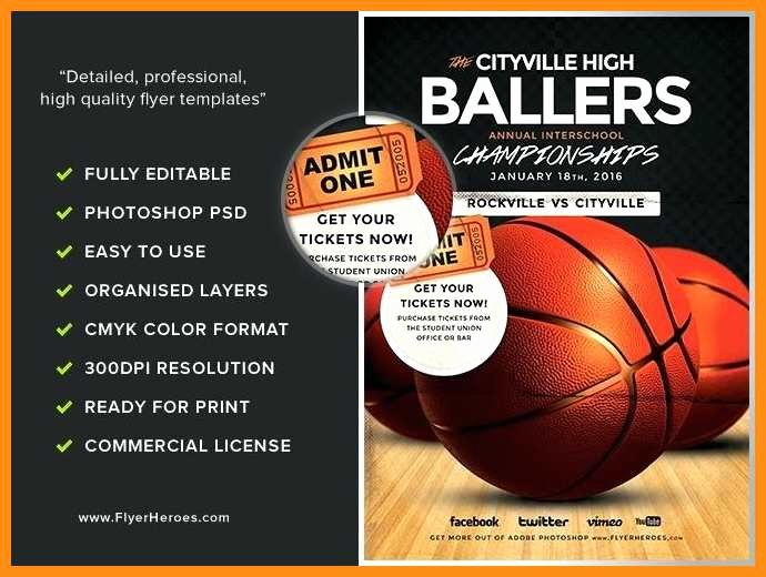 Basketball Camp Flyer Template Lovely 7 8 Free Basketball Templates for Flyers