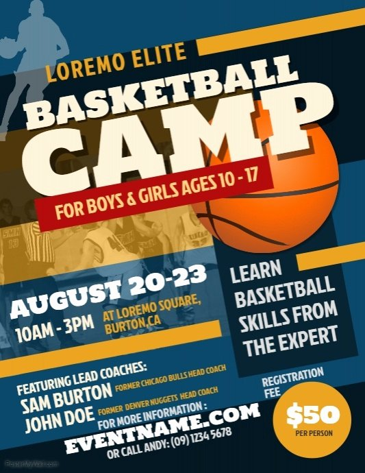 Basketball Camp Flyer Template Lovely Basketball Camp Flyer Template