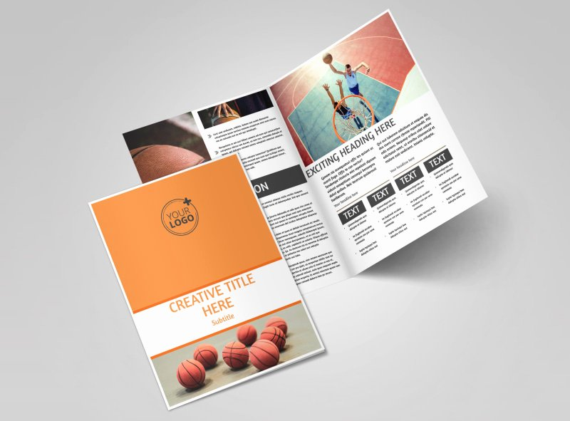 Basketball Camp Flyer Template Luxury Basketball Camp Brochure Template