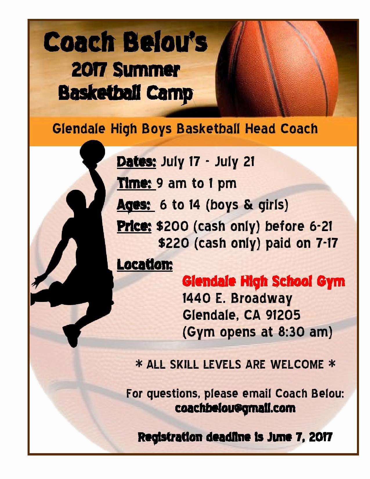 Basketball Camp Flyer Template New Coach Belou S Summer Basketball Camp Full force Basketball