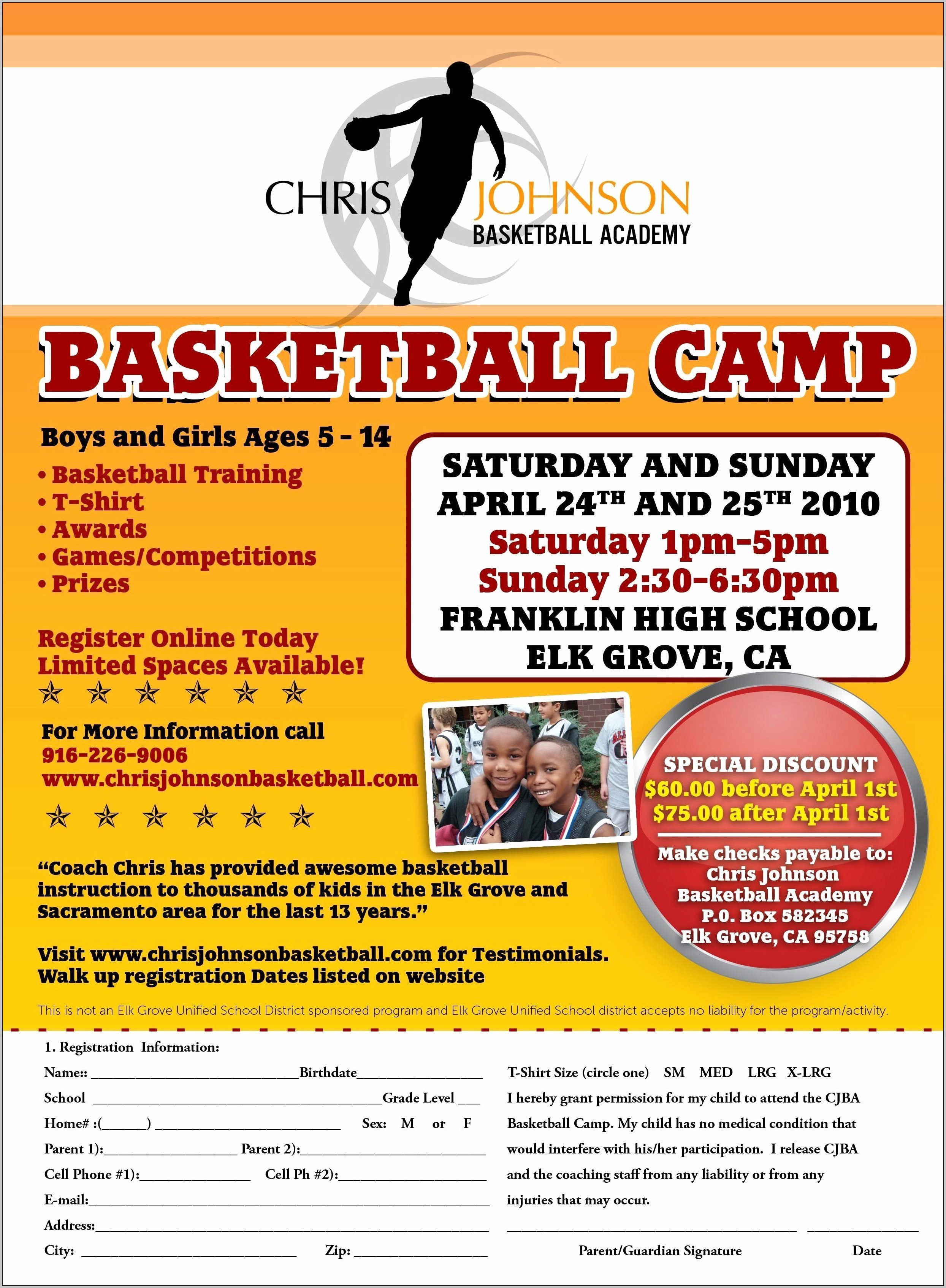 Basketball Camp Flyer Template Unique Basketball Camp Flyer Template Template Resume