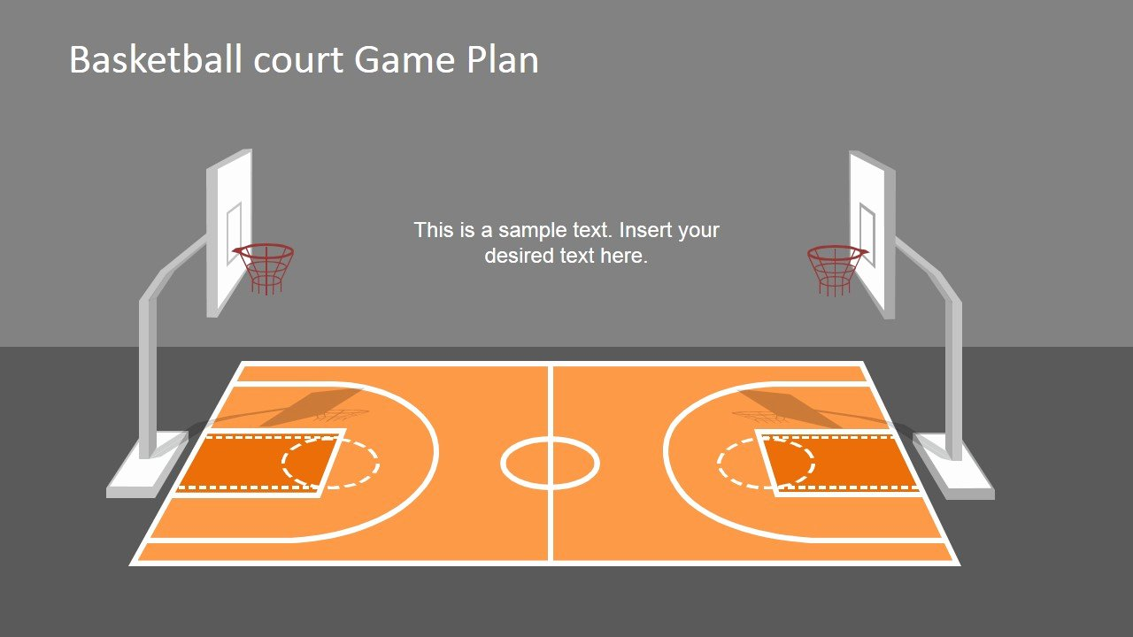 Basketball Court Design Template Beautiful Basketball Court Game Plan Powerpoint Shapes Slidemodel