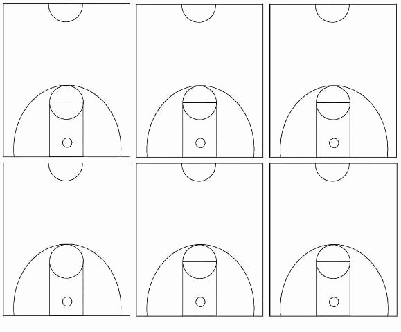 Basketball Court Design Template Beautiful Basketball Half Court Diagram Template Templates
