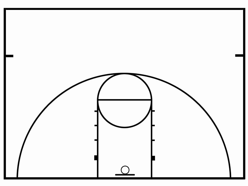 Basketball Court Design Template Best Of Basketball Half Court Diagrams Printable Clipart Best