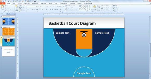 Basketball Court Design Template Elegant Free Basketball Court Powerpoint Template