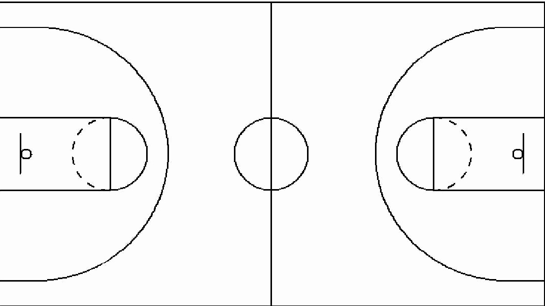 Basketball Court Design Template Lovely Best S Of Basketball Court Diagrams for Plays
