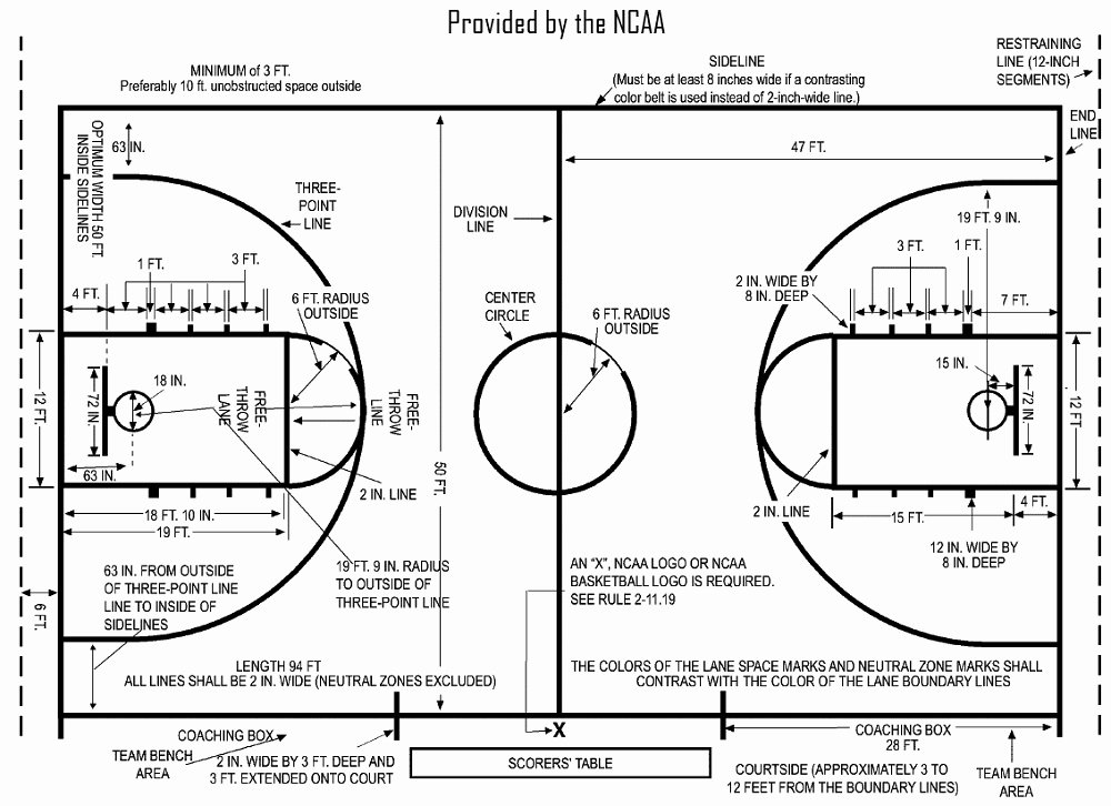 Basketball Court Design Template Luxury Basketball Court Diagrams Printable
