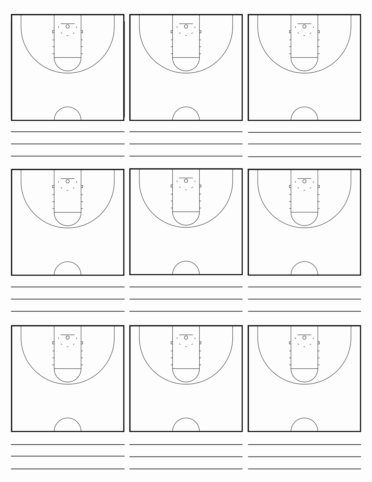 Basketball Court Design Template New Custom Court Diagram Sheets